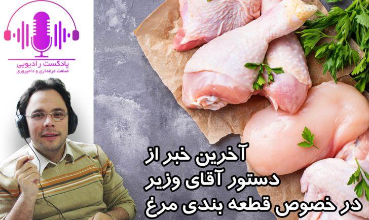 آخرین خبر از دستور آقای وزیر در خصوص قطعه بندی مرغ