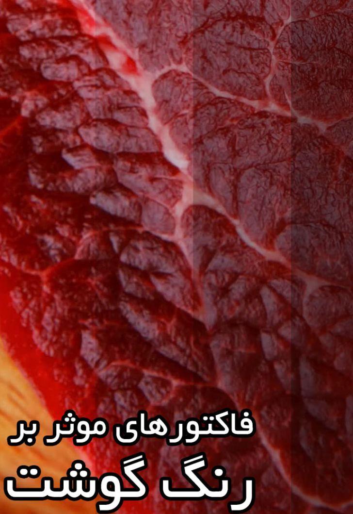 فاکتورهای موثر بر رنگ گوشت